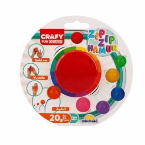 Crafy Zıp Zıp Oyun Hamuru 20 gr. (Kırmızı)
