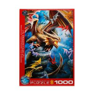 1000 Parça Puzzle : Dragon Clan - Anne Stokes