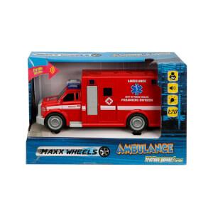 1:20 Maxx Wheels Sesli ve Işıklı Ambulans