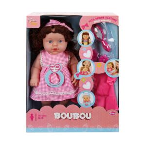 Boubou Yedek Kıyafetli Sesli Bebek 35 cm.