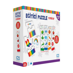 Eğitici Puzzle Renkler 60 Parça