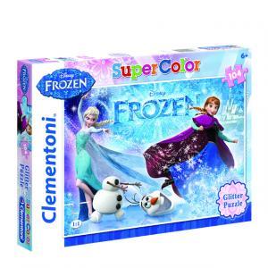 104 Parça Puzzle : Frozen Glitter