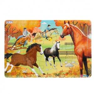 20 Parça Puzzle : Atlar