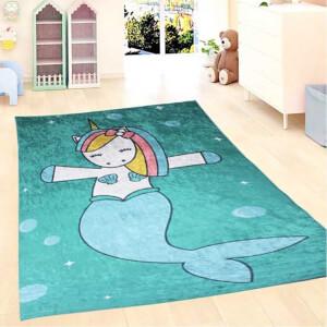Firstmoon Unicorn Denizkızı Çocuk Halısı 100 x 160 cm.