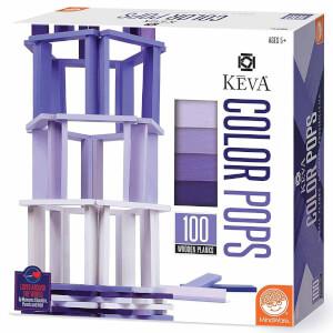 Keva Colors Mor Ahşap Yapı Blokları 100 Parça