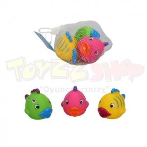 3'lü Banyo Oyuncakları Balık