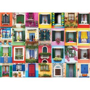 1000 Parça Puzzle : Mediterranean Windows