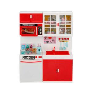 Little Chef Sesli ve Işıklı 2'li Mutfak Seti Kırmızı