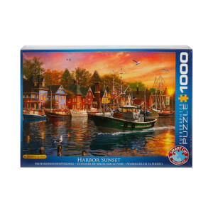 1000 Parça Puzzle : Harbor Sunset - Dominic Davison