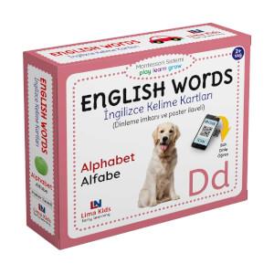 English Words İngilizce Kelime Kartları Alfabe