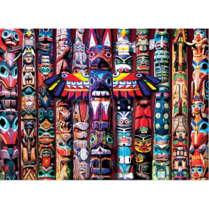 1000 Parça Puzzle : Totem Poles