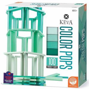 Keva Colors Mavi Ahşap Yapı Blokları 100 Parça