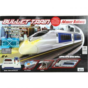 Işıklı Hız Kontrol Panelli Büyük Tren Seti