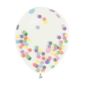 Şeffaf Konfetili Balon 4'lü