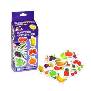 Manyetik Aktiviteler Meyve ve Sebzeler 30 Parça