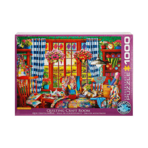 1000 Parça Puzzle : Quilting Craft Room - Ciro Marchetti