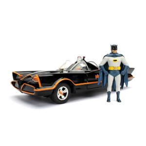 1:24 Batman Classic Tv Serisi 1996 Metal Batmobile ve Mini Figür (Batman ve Robin)