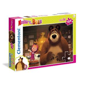 104 Parça Maxi Puzzle : Masha and the Bear 1