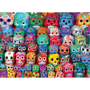1000 Parça Puzzle :  Traditional Mexican Skulls