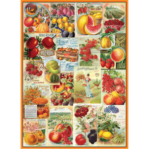1000 Parça Puzzle : Fruits Seed Catalogues Collection