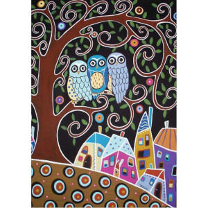 500 Parça Puzzle : Üç Baykuş