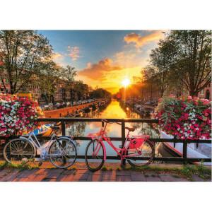1000 Parça Puzzle : Amsterdam'da Bisiklet