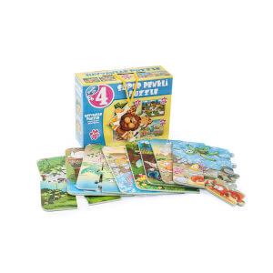 4'lü Puzzle Hayvanlar