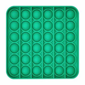 Push Pop Bubble Pop It Duyusal Oyuncak Özel Pop Stres Kare Yeşil