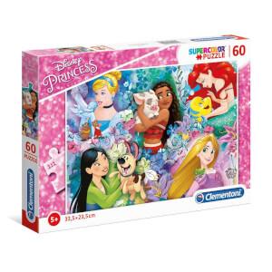 60 Parça Puzzle : Disney Prensesler