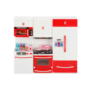 Little Chef Sesli ve Işıklı 3'lü Mutfak Seti Kırmızı