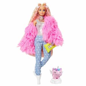 Barbie Extra Pembe Ceketli Bebek GRN28