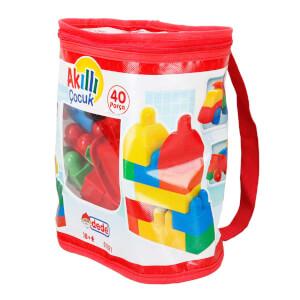 Akıllı Çocuk Renkli Bloklar 40 Parça