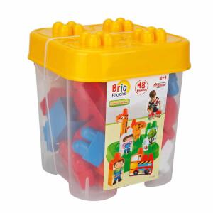 Akıllı Çocuk Sevimli Hayvan Bloklar 48 Parça