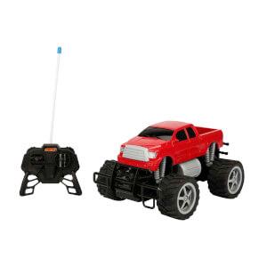 1:18 Uzaktan Kumandalı Jumbo Wheels Usb Şarjlı Araba 26 cm. (Kırmızı Pickup)