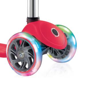 Primo Plus Işıklı 3 Tekerlekli Kırmızı Scooter