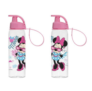 Minnie Şeffaf Matara Pembe 500 ml.