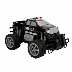 1:18 Uzaktan Kumandalı Jumbo Wheels Usb Şarjlı Işıklı Polis Arabası