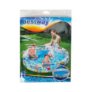 3 Halka Deniz Canlıları Desenli Yuvarlak Havuz