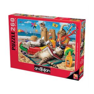 260 Parça Puzzle : Kedilerin Plaj Keyfi