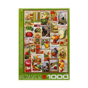 1000 Parça Puzzle : Vegetables Seed Catalogue Collection
