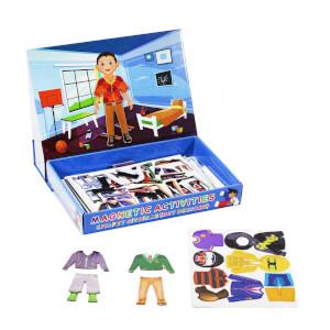 Manyetik Erkek Çocuk Kıyafet Giydirme Oyun Seti 52 Parça