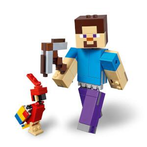 LEGO Minecraft Papağanlı BigFig Steve 21148