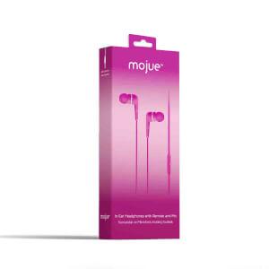 Mojue WE01 Kumandalı ve Mikrofonlu Kulak İçi Kulaklık Pembe