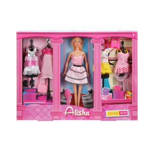 Alisha Günlük Elbiseli Aksesuarlı Bebek Oyun Seti