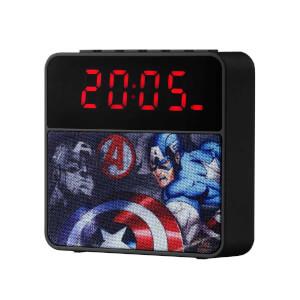 Marvel Avengers Bluetooth Kablosuz Hoparlör Radyolu USB Çalar Saat