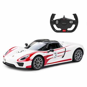 1:14 Uzaktan Kumandalı Porsche 918 Spyder Weissach Işıklı Araba 32 cm.