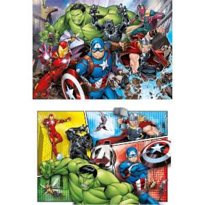 2 x 60 Parça Puzzle : Avengers