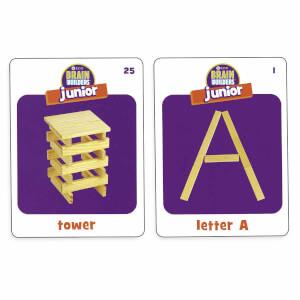Brain Builders Junior Ahşap Yapı Blokları 60 Parça