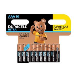 Duracell Ultra İnce Kalem Pil AAA 10'lu