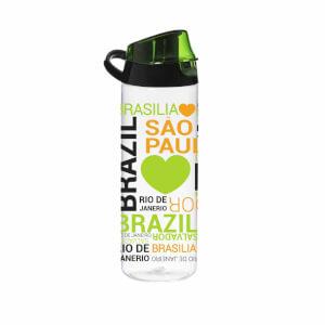 Brezilya Desenli Askılı Matara 750 ml.